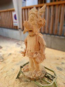 Sculpture sur bois - Astérix