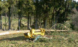 Ebrancheuse pour travaux forestiers