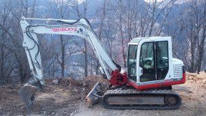 Pelle pour travaux forestiers