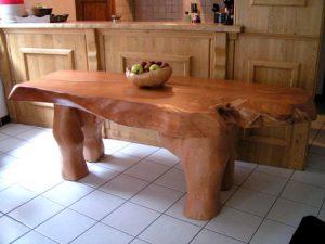 Sculpture bois - Table